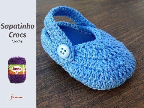 9225ab55cf3 Crochet Baby Crocs Flip Flops