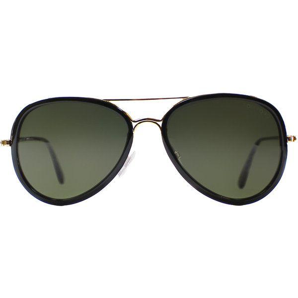 e44871c47b7 Tom Ford Miles TF 341 28J Black Gold Aviator Plastic Sunglasses ( 230) ❤  liked