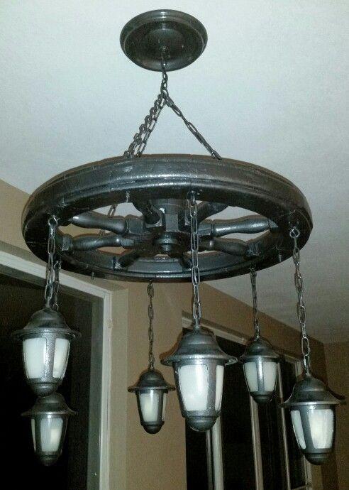 Ships wheel chandelier ships wheel chandelier pinterest ships wheel chandelier mozeypictures Gallery