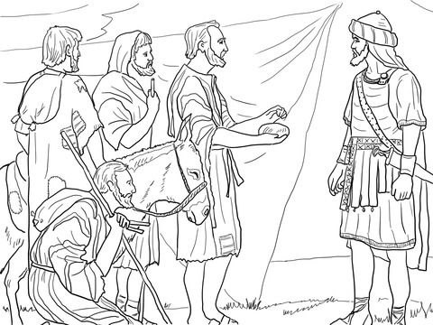 Gibeonites Trick Joshua Coloring Page From Joshua Category Select