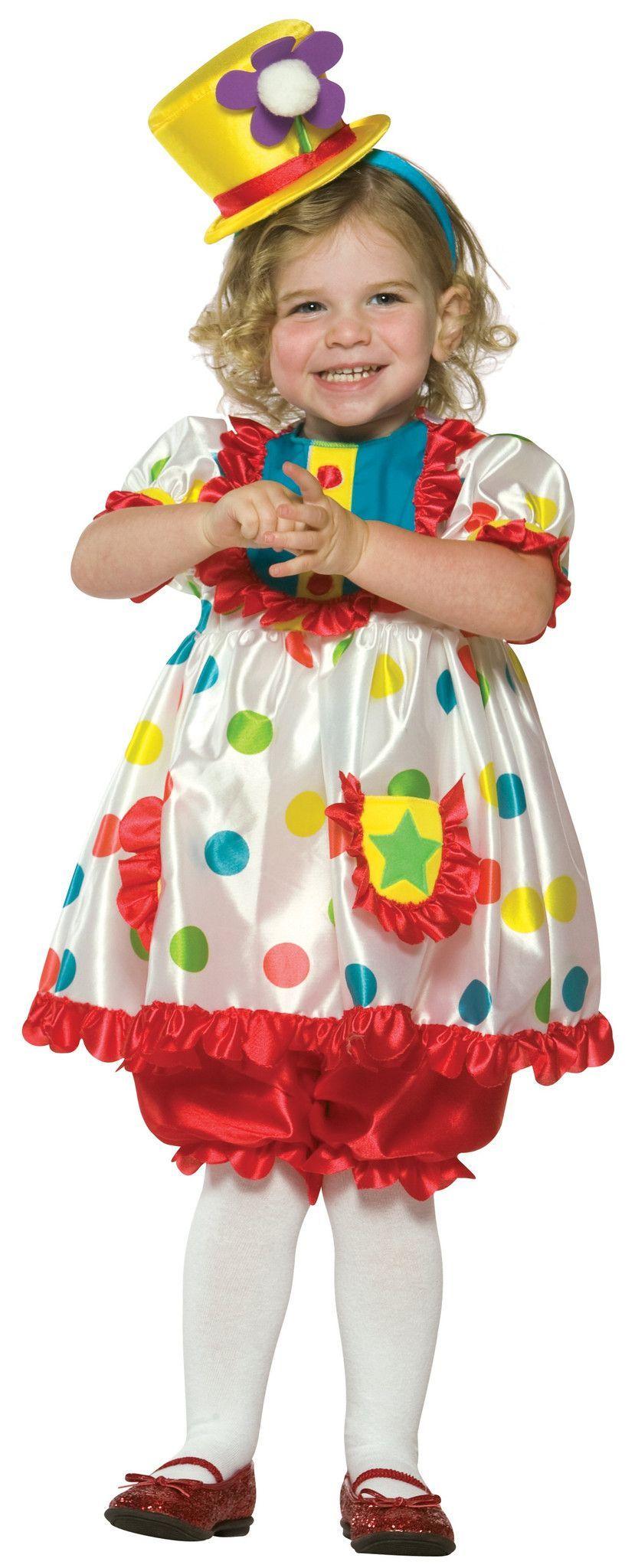 Clown Girl Toddler Costume  sc 1 st  Pinterest & Clown Girl Toddler Costume | Products | Pinterest | Toddler costumes ...