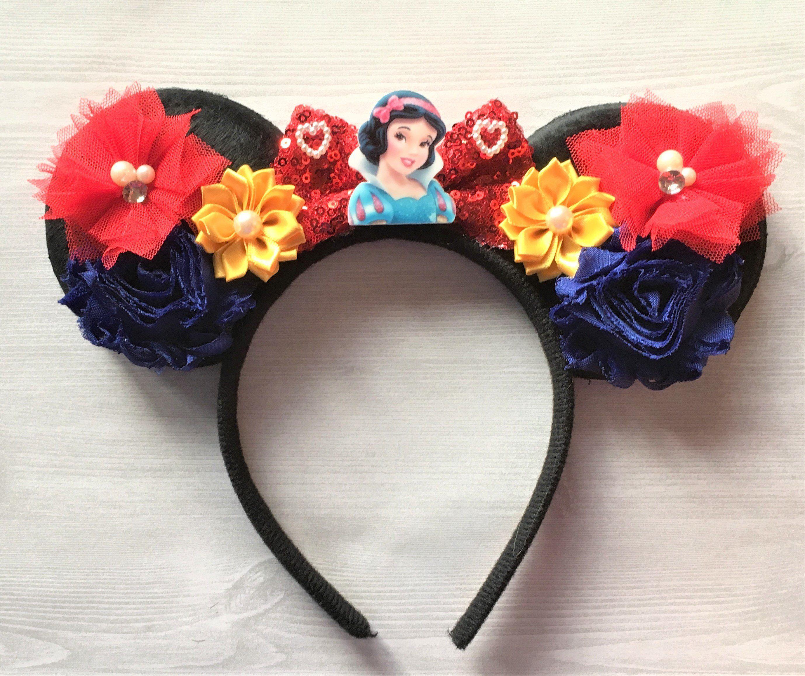 Purple Disney headband adult,floral mickey ear,flower disney ears,Minnie ears headband,Mickey ears headband,Orange disney headpiece,Floral
