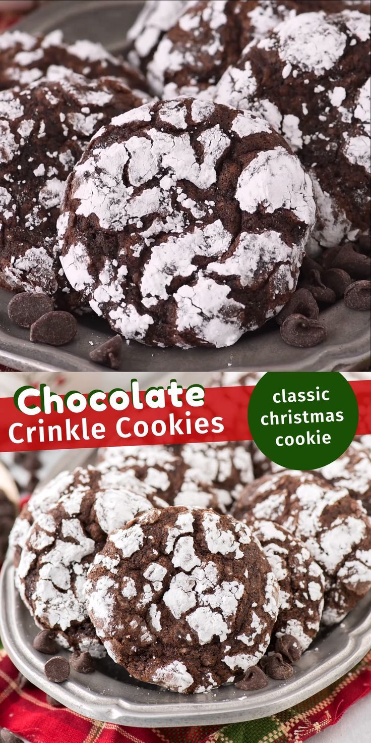 Chocolate Crinkle Cookies | The First Year #christmascookies