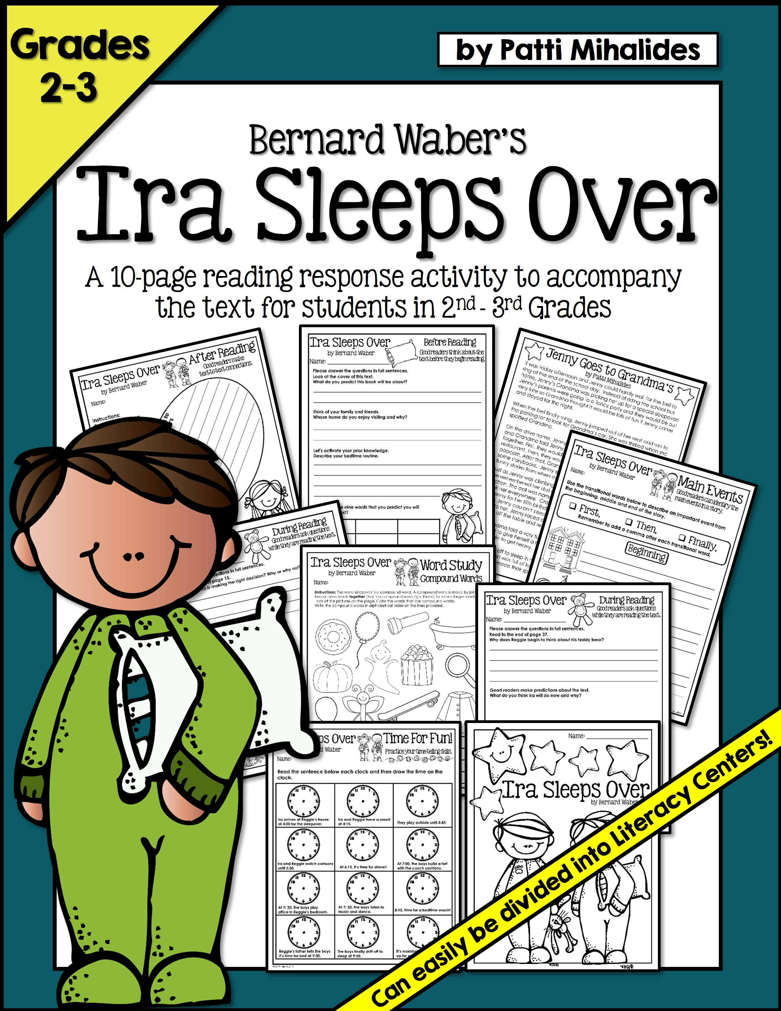 Ira Sleeps Over A Reading Response Comprehension Booklet For 2nd 3rd Graders