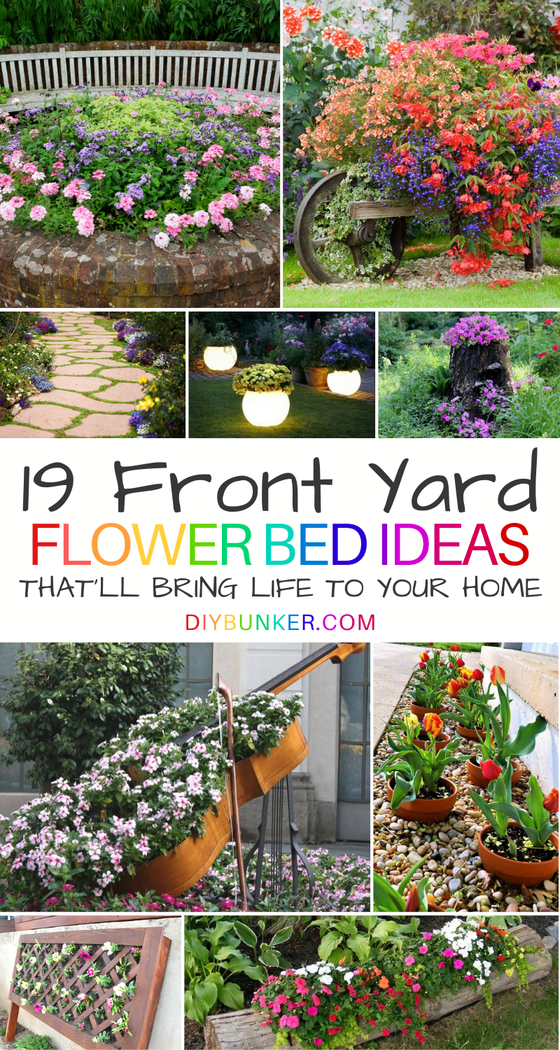 19 Best Front Of House Flower Bed Ideas That Ll Bring Your Home To Life In 2021 Front Flower Beds Flower Beds Landscape Ideas Front Yard Curb Appeal