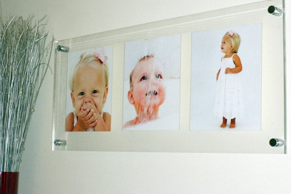 Multi Photo Picture Frame 3x 10 X 8 25 X 30 Cm 8 X 10 High Gloss All Colors Wall Mount Cheshire Acrylic Hazak
