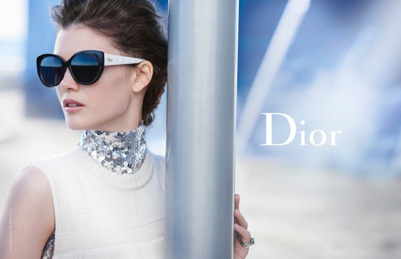 189b7ffe96ba0 Diana Molodovan stars in Dior Eyewear advertisement photographed by Peter  Lindbergh