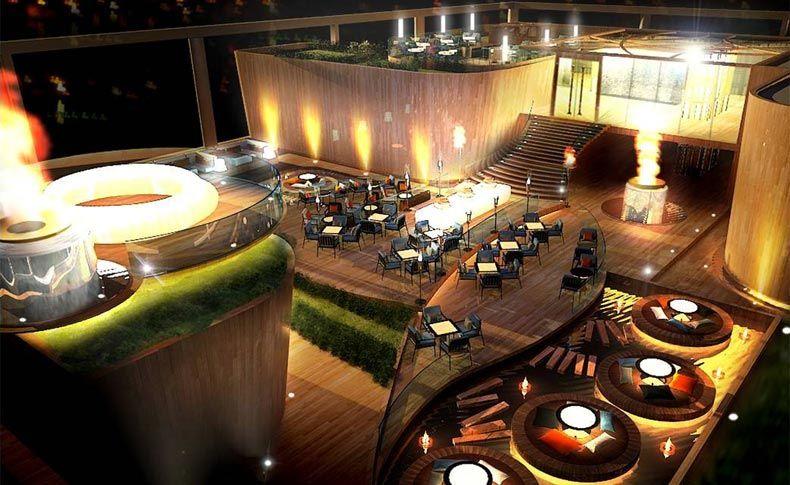 Rooftop restaurant bar kolkata india etf pvc