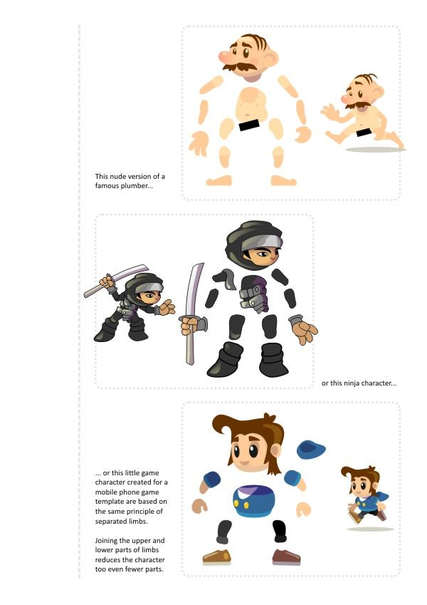 2d Character Design Tutorials : D game art for programmers creating a character