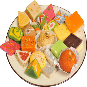 Mix Sweets in a Box Packing (Half Kg.) Mithai, Pakistani