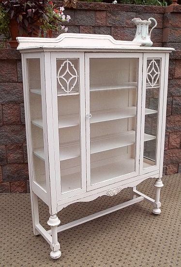 chic blushing pink rose shabby china cabinet cupboard