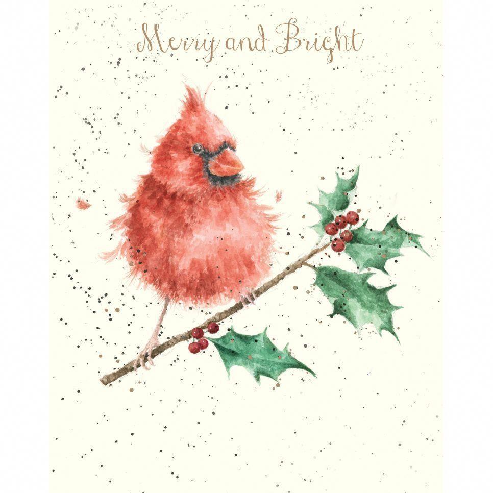 Cardinal Christmas Card Watercolor Christmas Cards Christmas