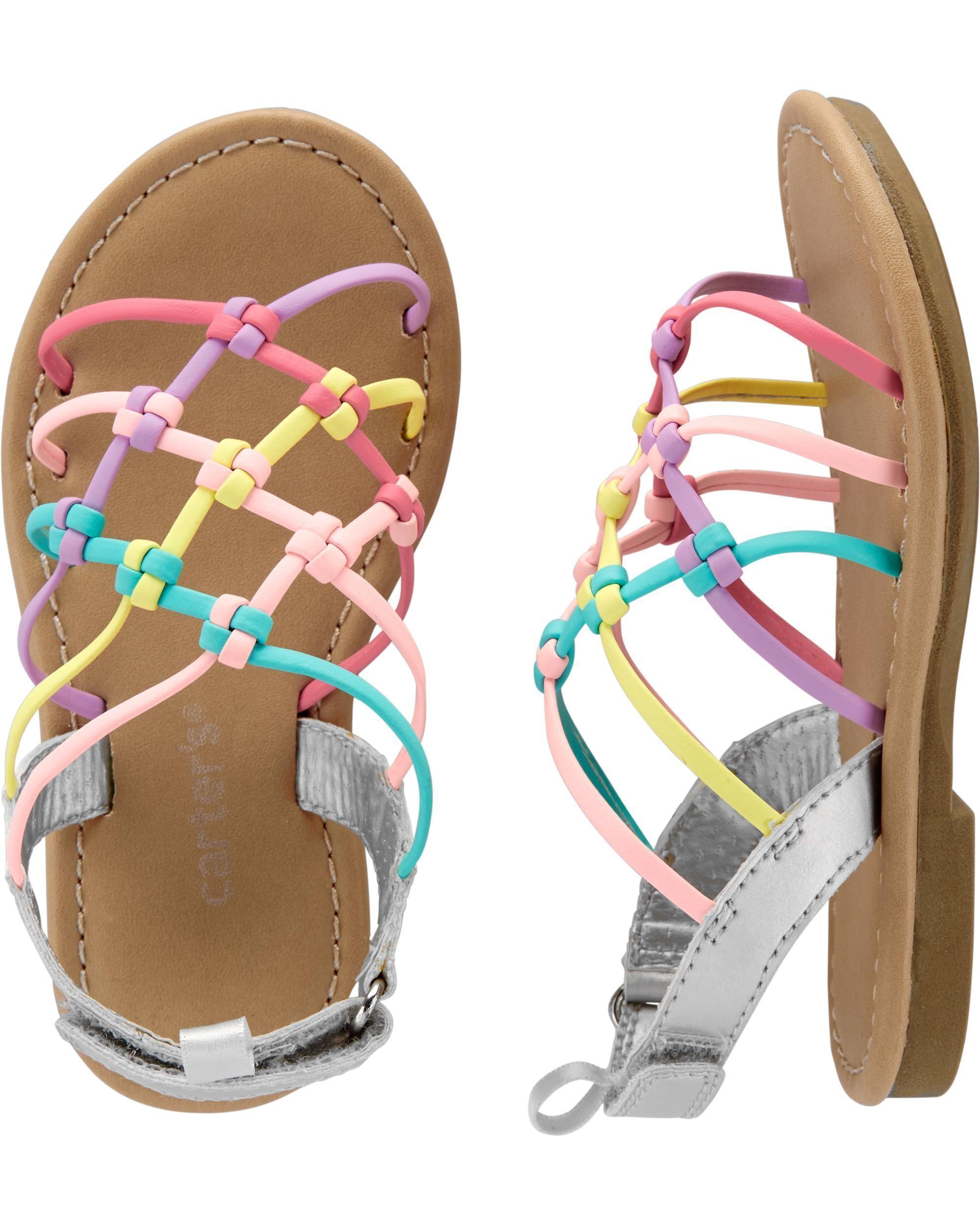 Carters Kids Girls Filipa Braided Strappy Sandal