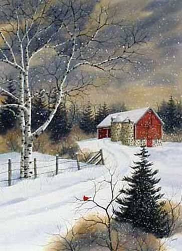 Winter Farm By Kathy Glasnap Winter Painting Winter Art Canvas Painting