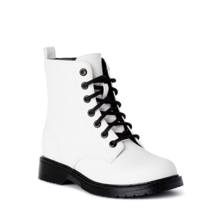 Walmart White Lace Up Boots in 2020