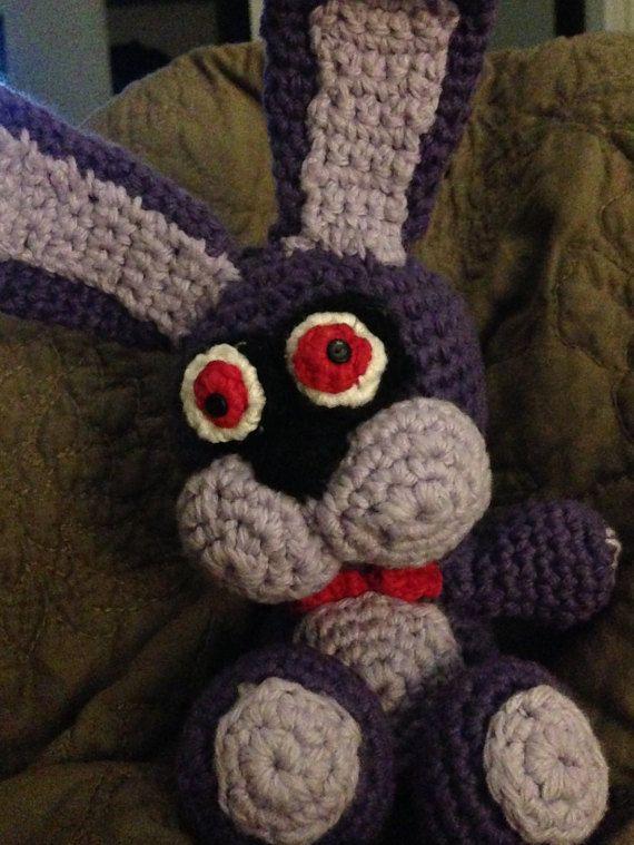 Crocheted Bonnie, FNAF on Etsy, $38.00 | free crochet patterns ...