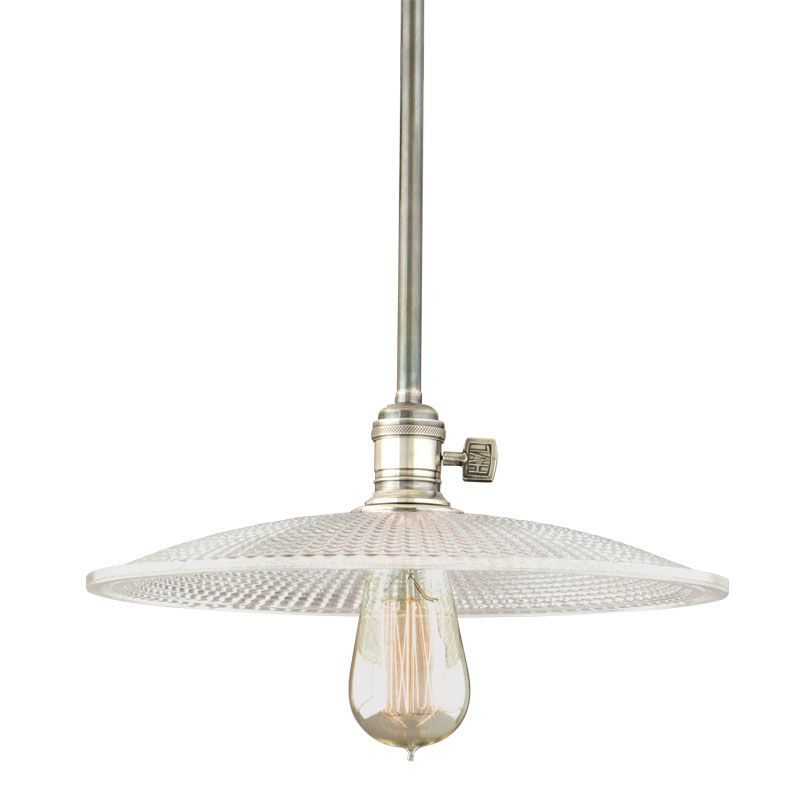 Hudson Valley Lighting 9001 Gm4 Single Light Down Pendant With Solid Br Historic Nickel Indoor Pendants