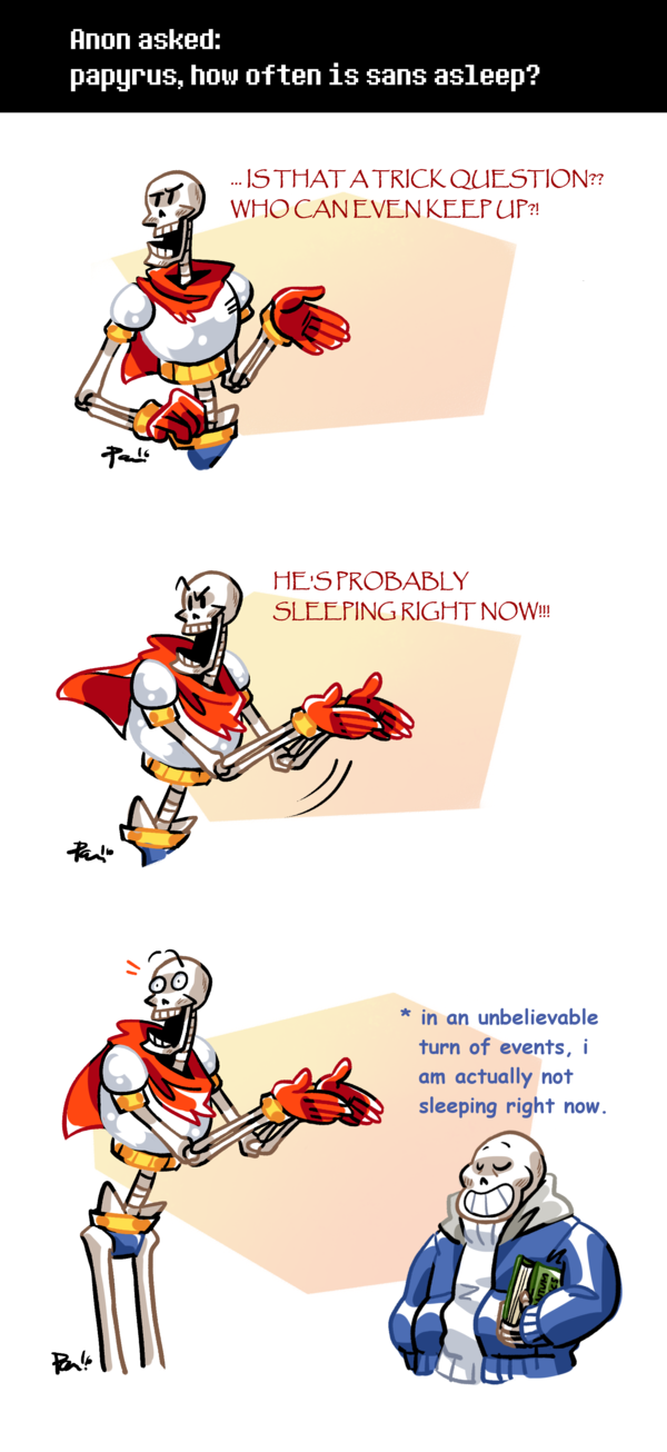 ASK THE SKELEHOUSEHOLD! you all need to stop spreading