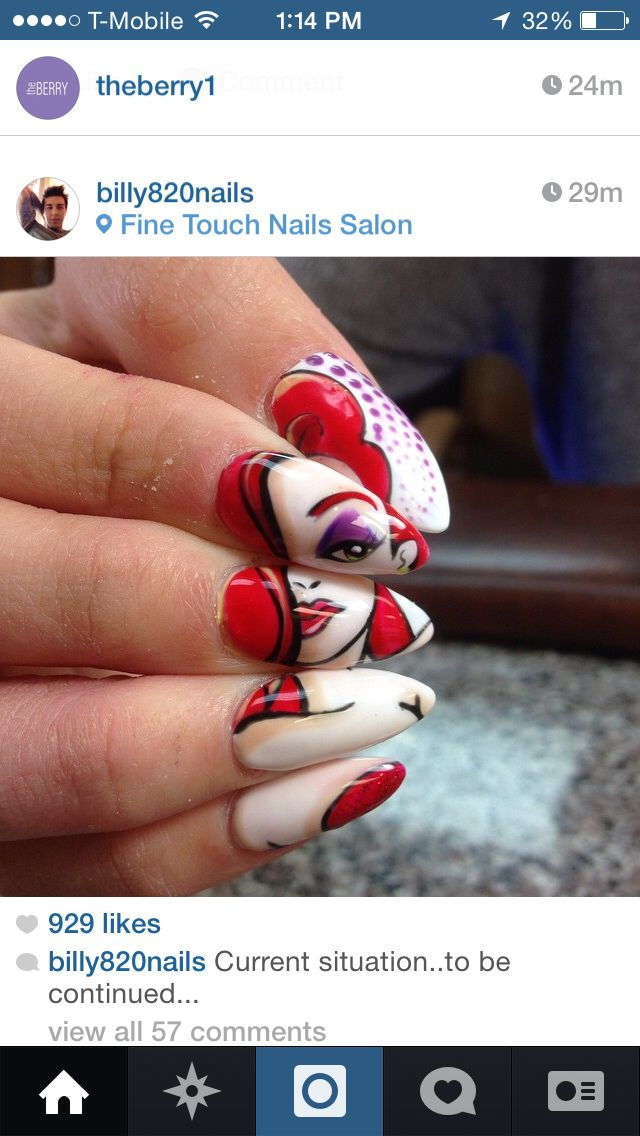 Amazing Jessica Rabbit nails by some Billy guy. | Nails Galore ...