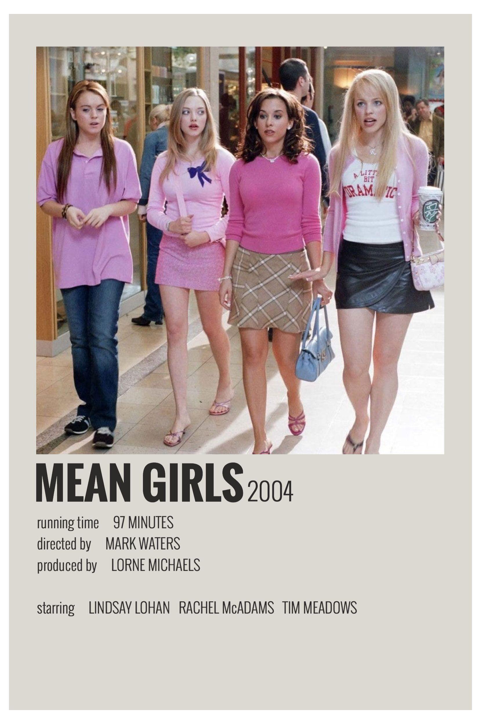 minimalist movie posters mean girls