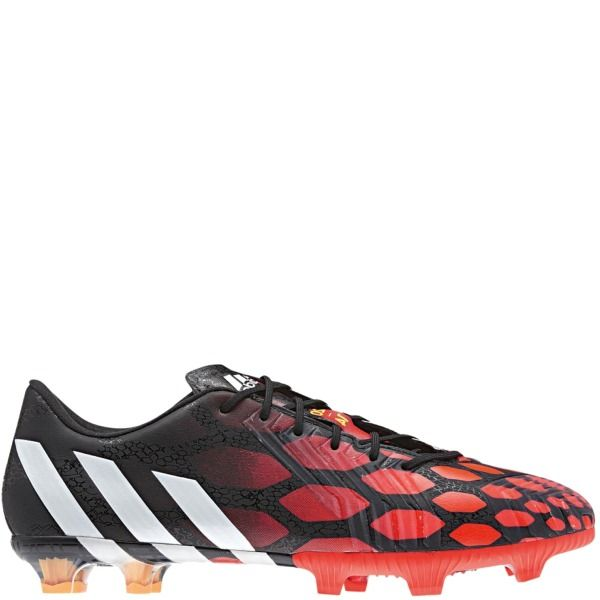 827ceb47b846 adidas Predator Instinct FG Black Core White Solar Red Firm Ground Soccer  Cleats - model M17643