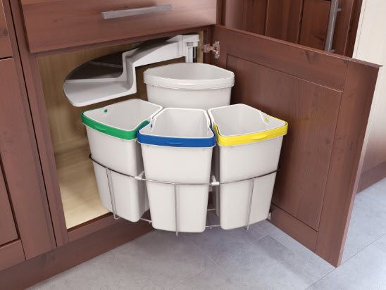 30 Unique Undersink Trash Can Ideas, Pictures, Remodel And