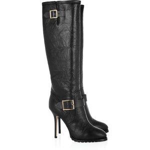 Jimmy Choo Gaige leather knee boots