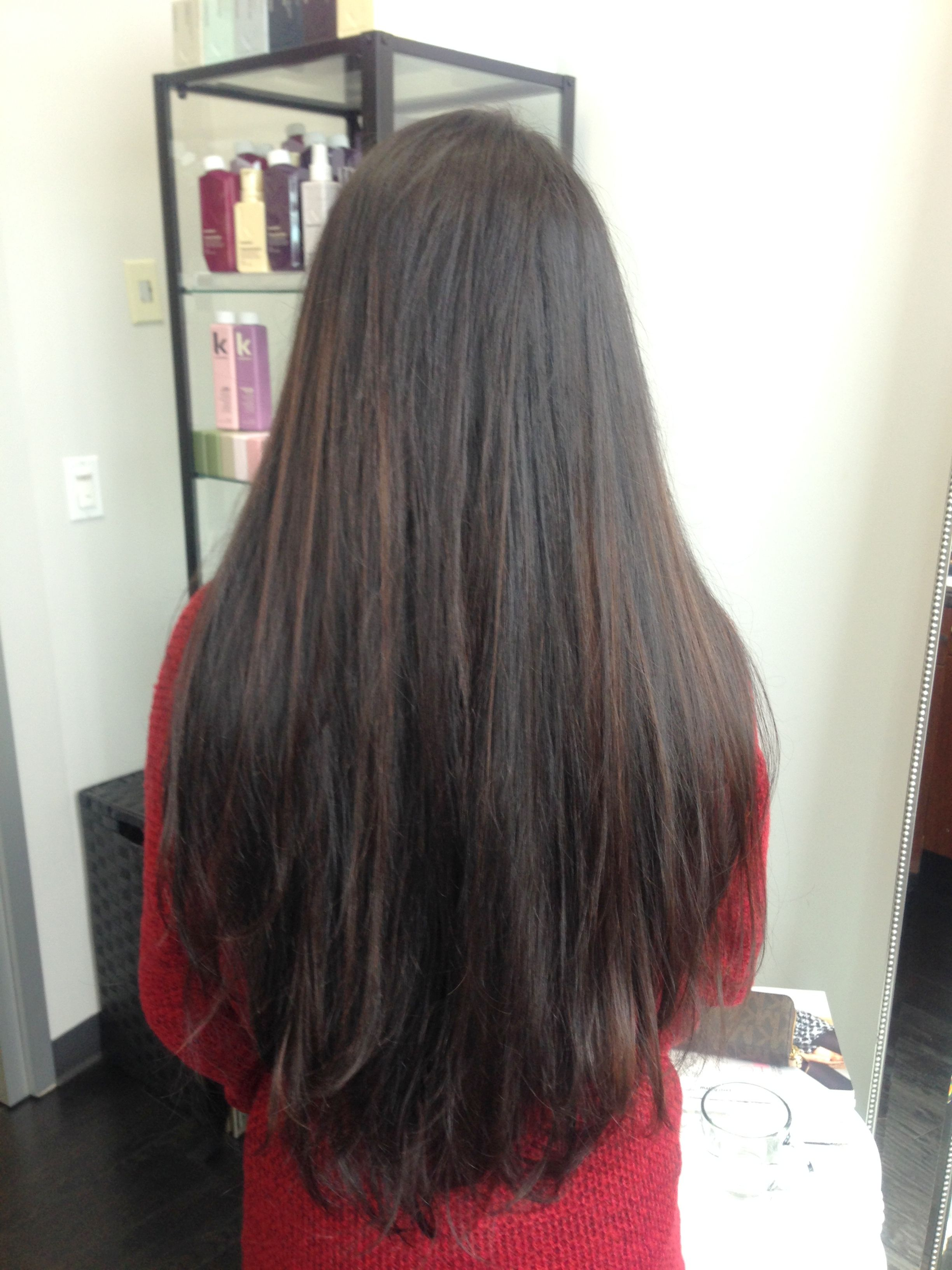 Sunkissed Partial Balayage Effect With Hints On Red And Golden On