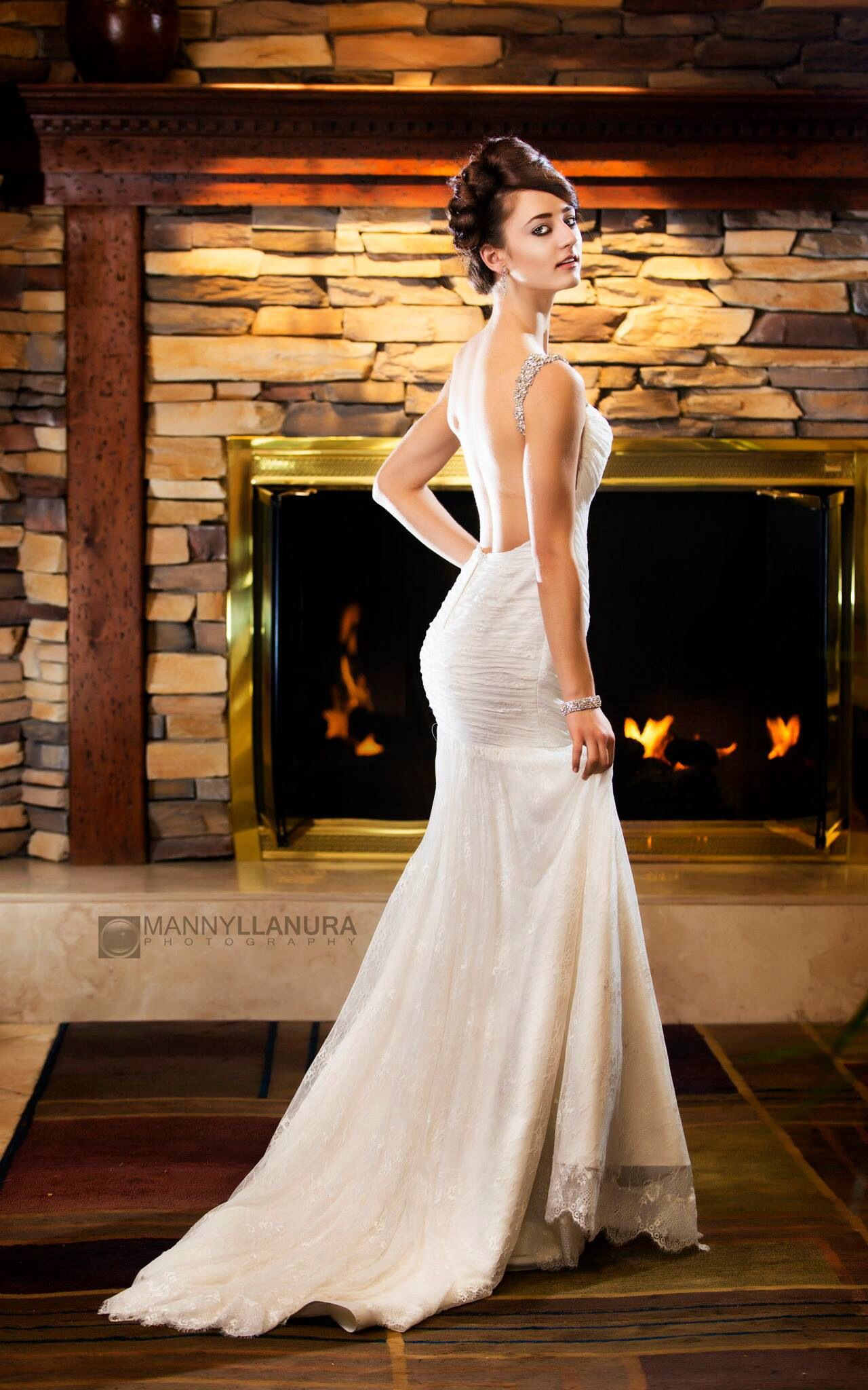 Gorgeous gown by Elyse Reuben. Styling and accessories by Sandra Nicole Designs.