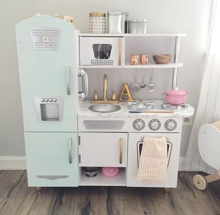 kidkraft vintage white kitchen painted & customized. love ...