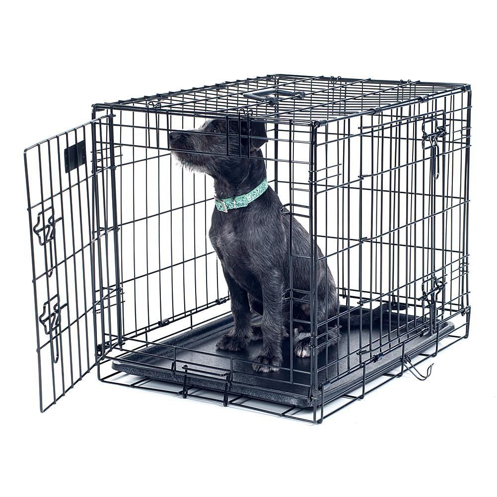 Petmaker Medium 2 Door Foldable Dog Crate 30 X 19 Dog Crate