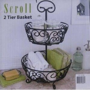 2-tier wrought iron handcrafted fruit basket · Plate StandsFruits ... & 2-tier wrought iron handcrafted fruit basket | ~ kitchen ...