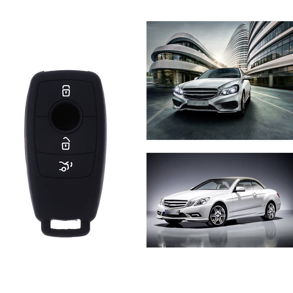 Silicone 3 Button Car Key Cover Case Jacket for Mercedes