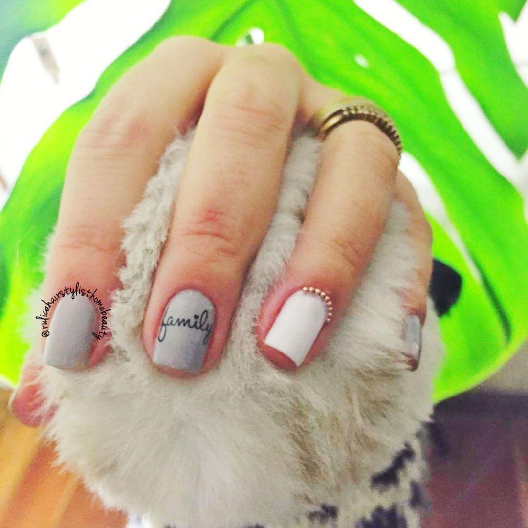 "Rúlica Maciel HairStylist on Instagram: ""Agende seu momento HOMEBEAUTY  #nails  #nailstyles  #familynails"""
