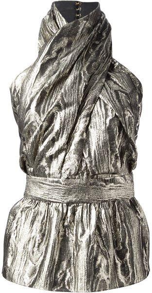 Balmain Silver Halter