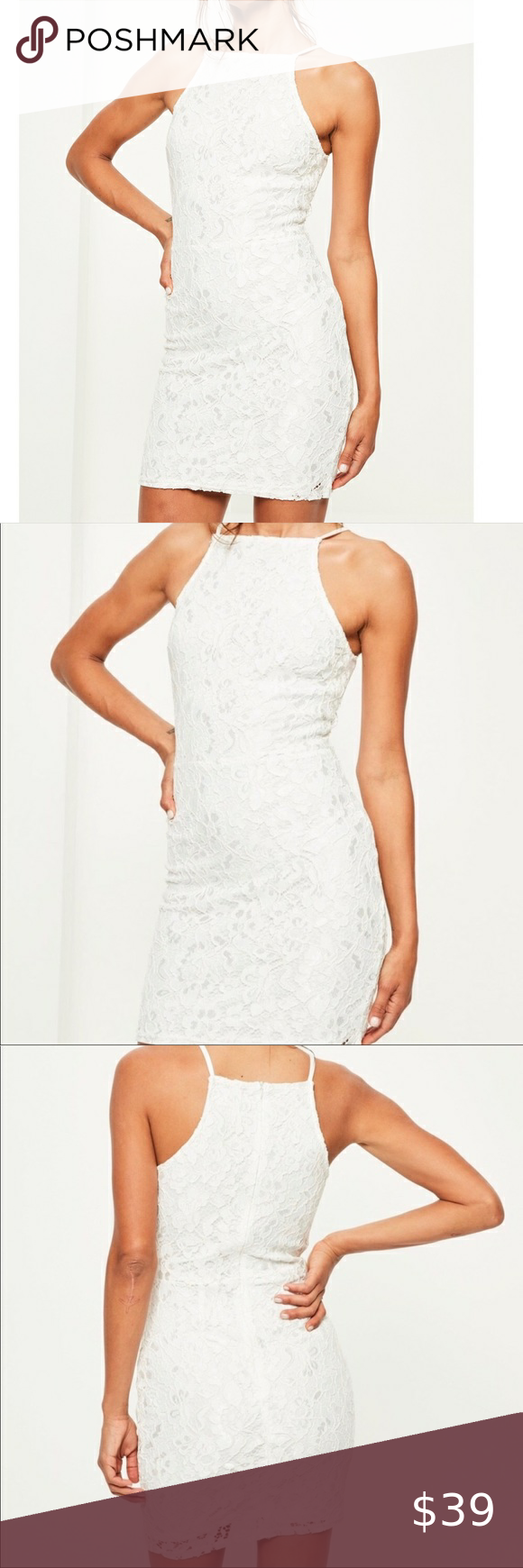 Nwt Missguided White Lace Bodycon Dress Us6 White Lace Bodycon Lace Bodycon Dress White Lace Bodycon Dress [ 1740 x 580 Pixel ]
