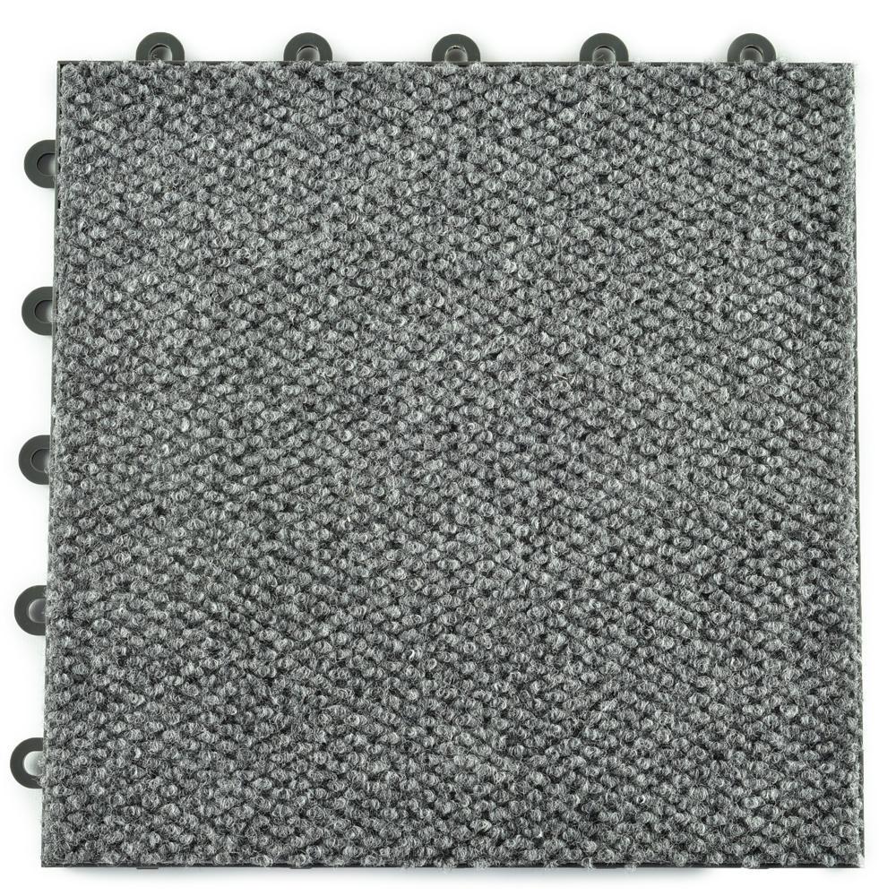 Greatmats Clickbase Gray Hobnail Textured Loop 12 125 In X 12 125