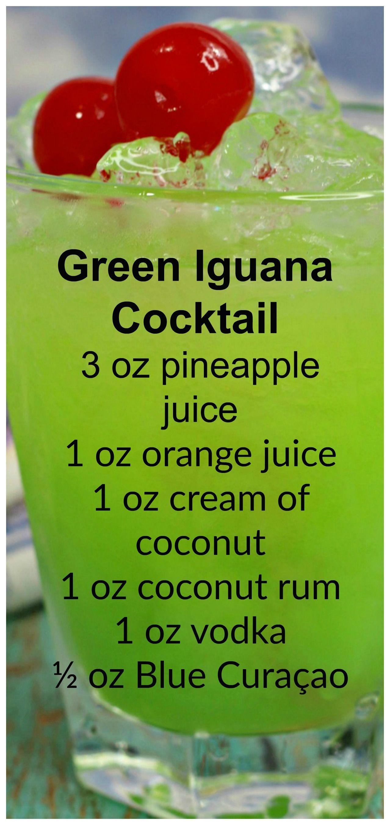 Green Iguana Cocktail