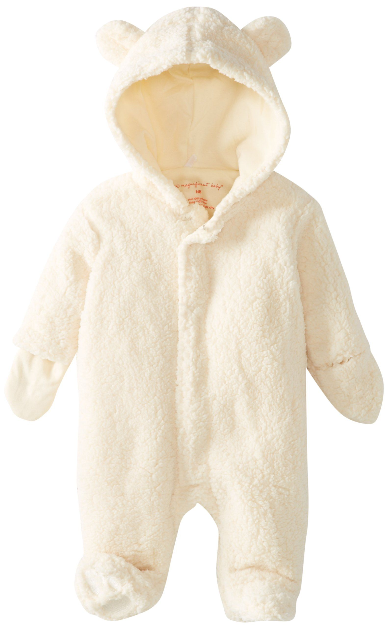 7502fc7d54737 Magnificent Baby Unisex-Baby Infant Hooded Bear Pram, Cream, 3 Months