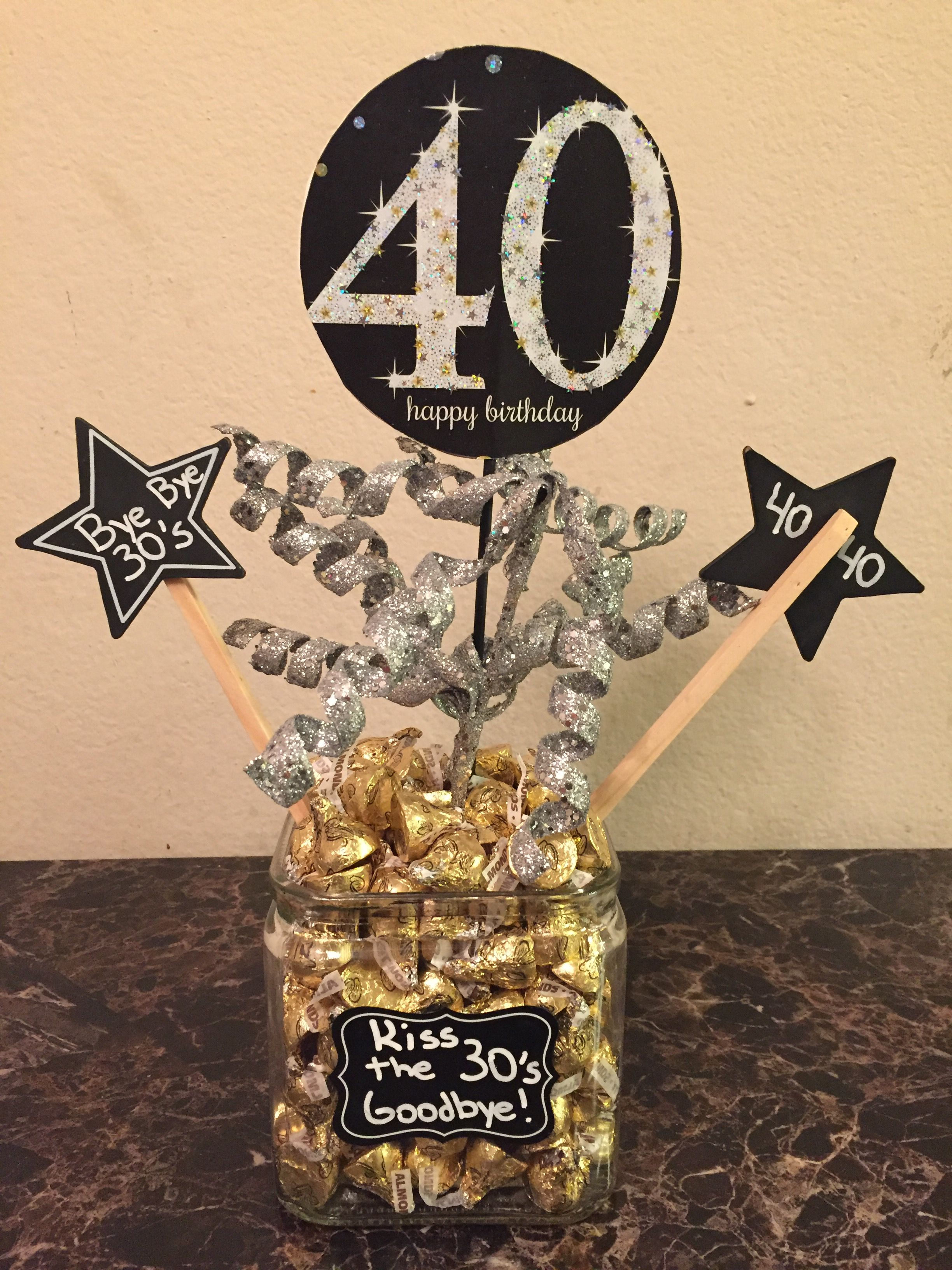 Centerpiece I Made For My Husbands 40th Birthday Party
