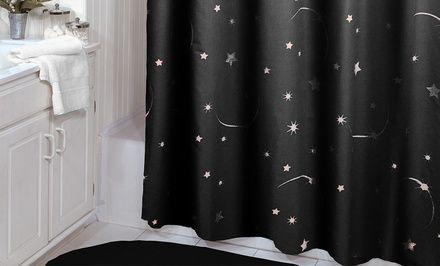 75 x72 stellar glow in the dark shower