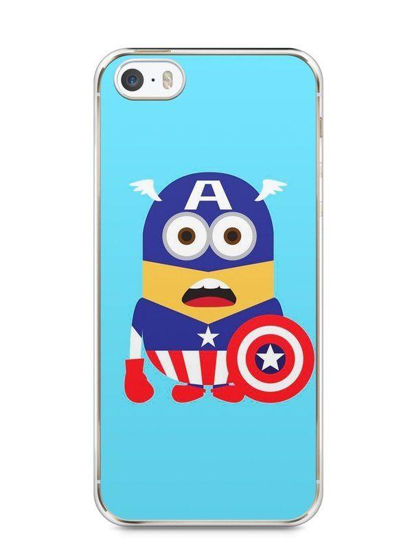 Capa Iphone 5/S Minions Capitão América - SmartCases - Acessórios para celulares e tablets :)