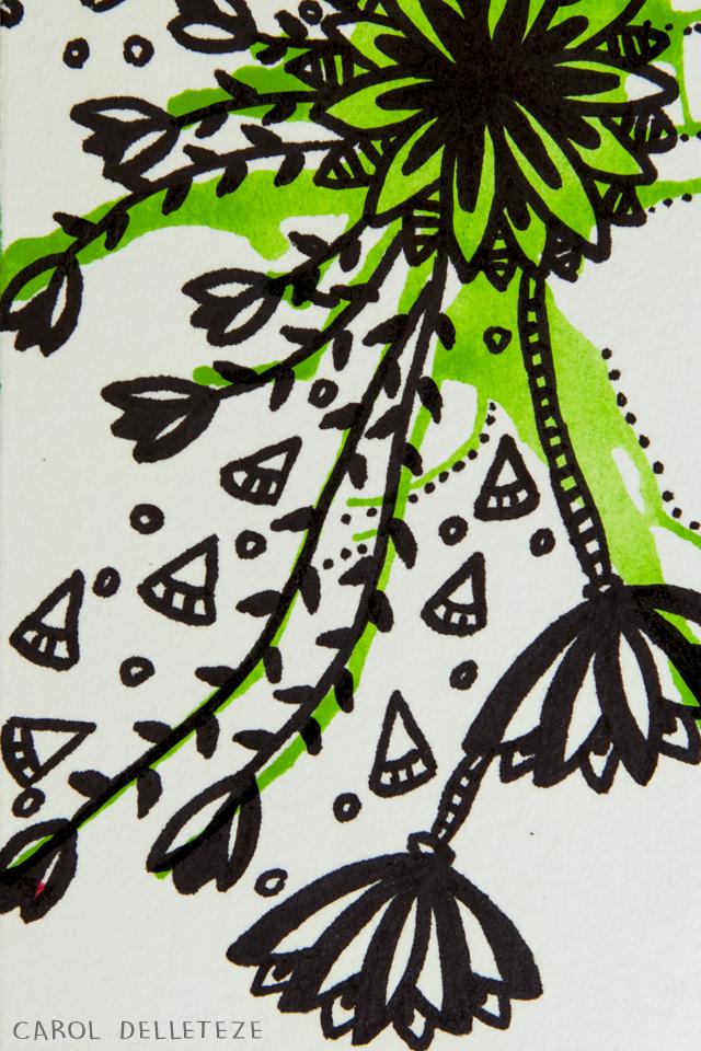Floral Verde - Background e Wallpaper criados por Carol Delleteze. Desenhos originais, únicos, feitos a mão disponíveis para download.  #caroldelleteze #background #wallpaper #desenholudico #arte #art #handmade #illustration #pattern #floral #verde #flores #flower