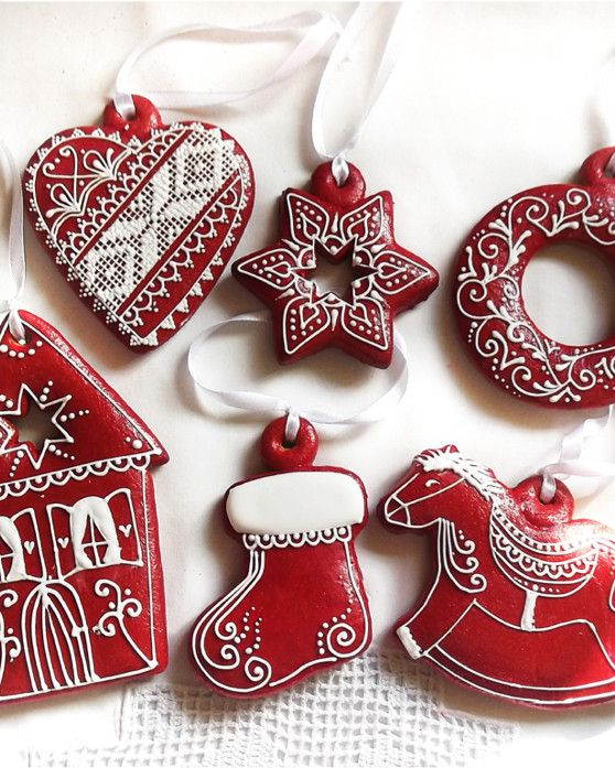 Set of 6 Christmas Hanging Gingerbread Cookies from Funky ...