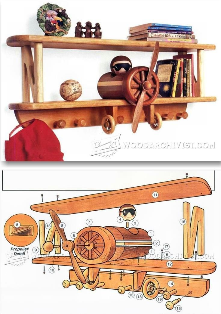 Airplane Shelf Plans Children S Furniture Plans And Projects