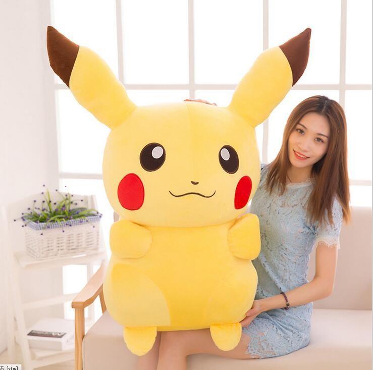 new 45CM Cute Giant Big Size Pikachu Go Soft Plush Toys Doll Kids Birthday Gift