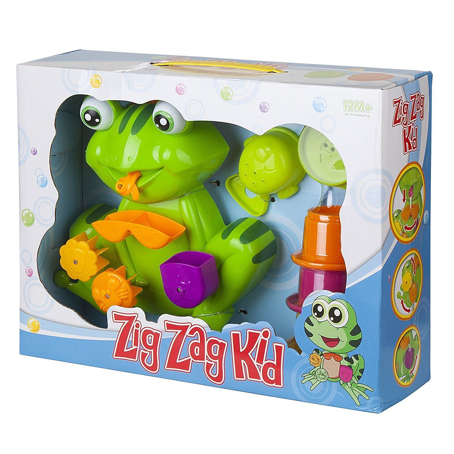 NEW Frog Baby Bath Toys The BEST Toddler Toy Safe Non-toxic By Zig ...