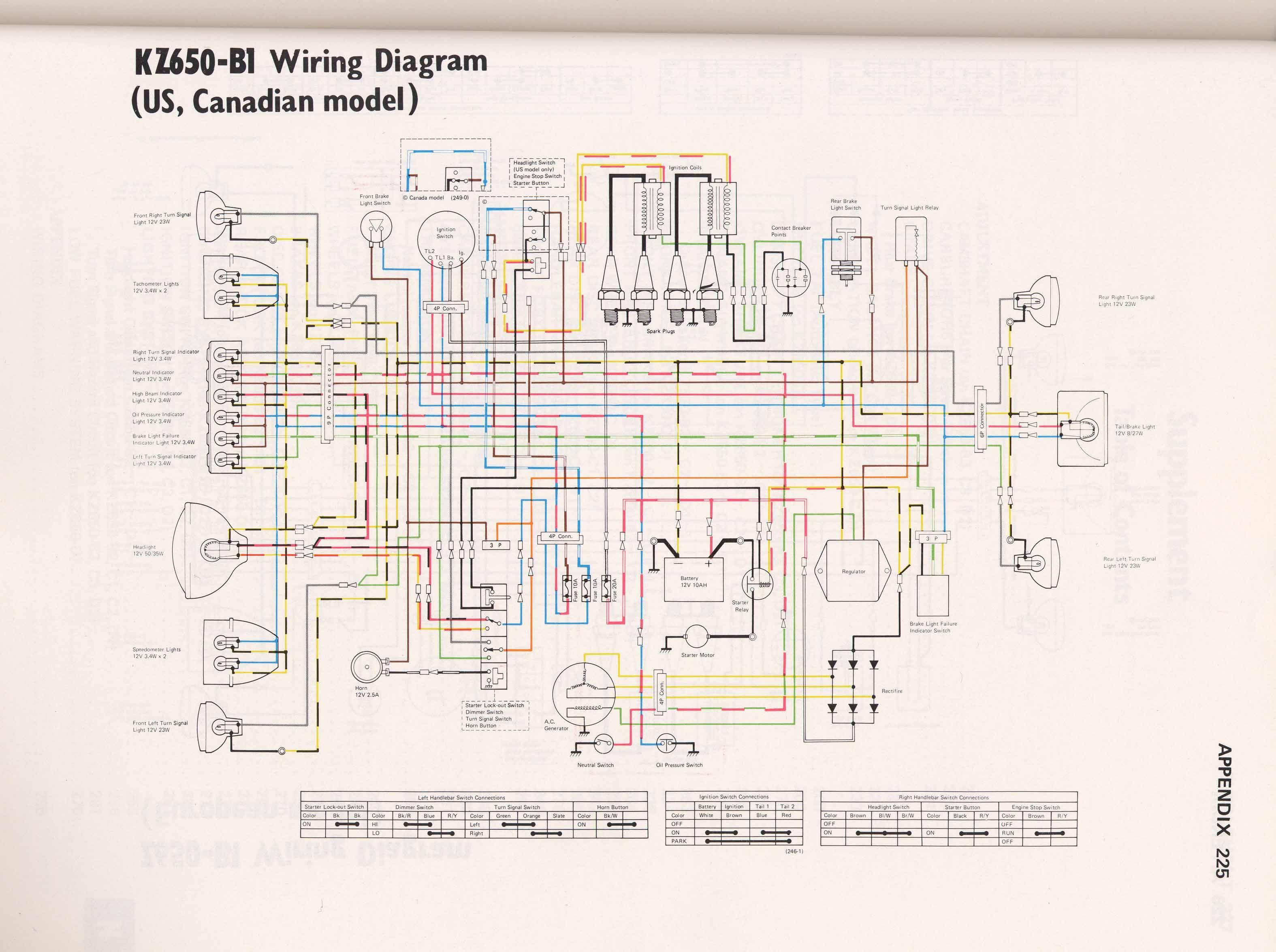 Pin By Juha H On Z650 Electrical Wiring Diagram Diagram Yamaha