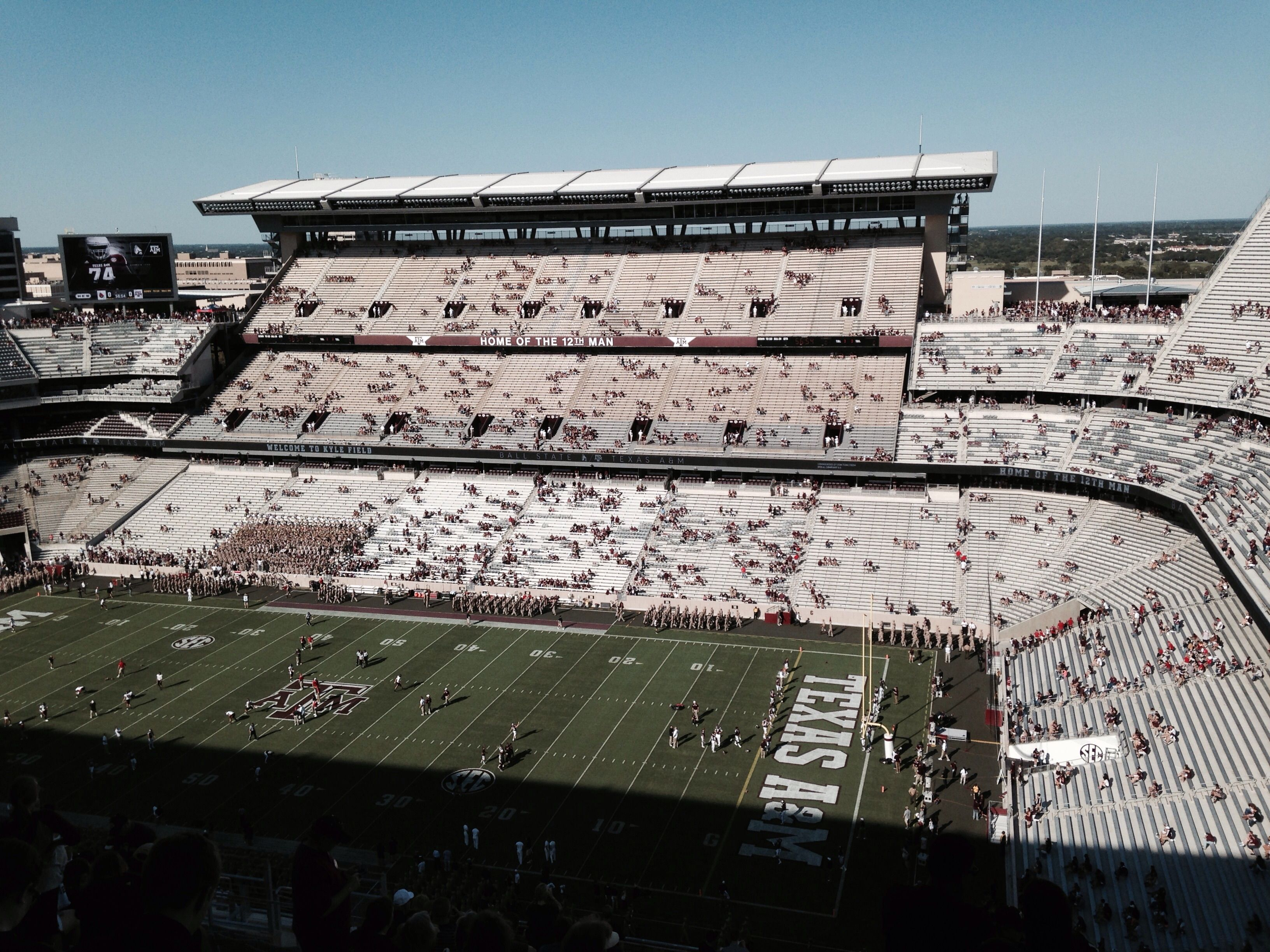 First Game Played At New Kyle Field Saturday September 12 2015 Kyle Field Texas A M University Favorite Places