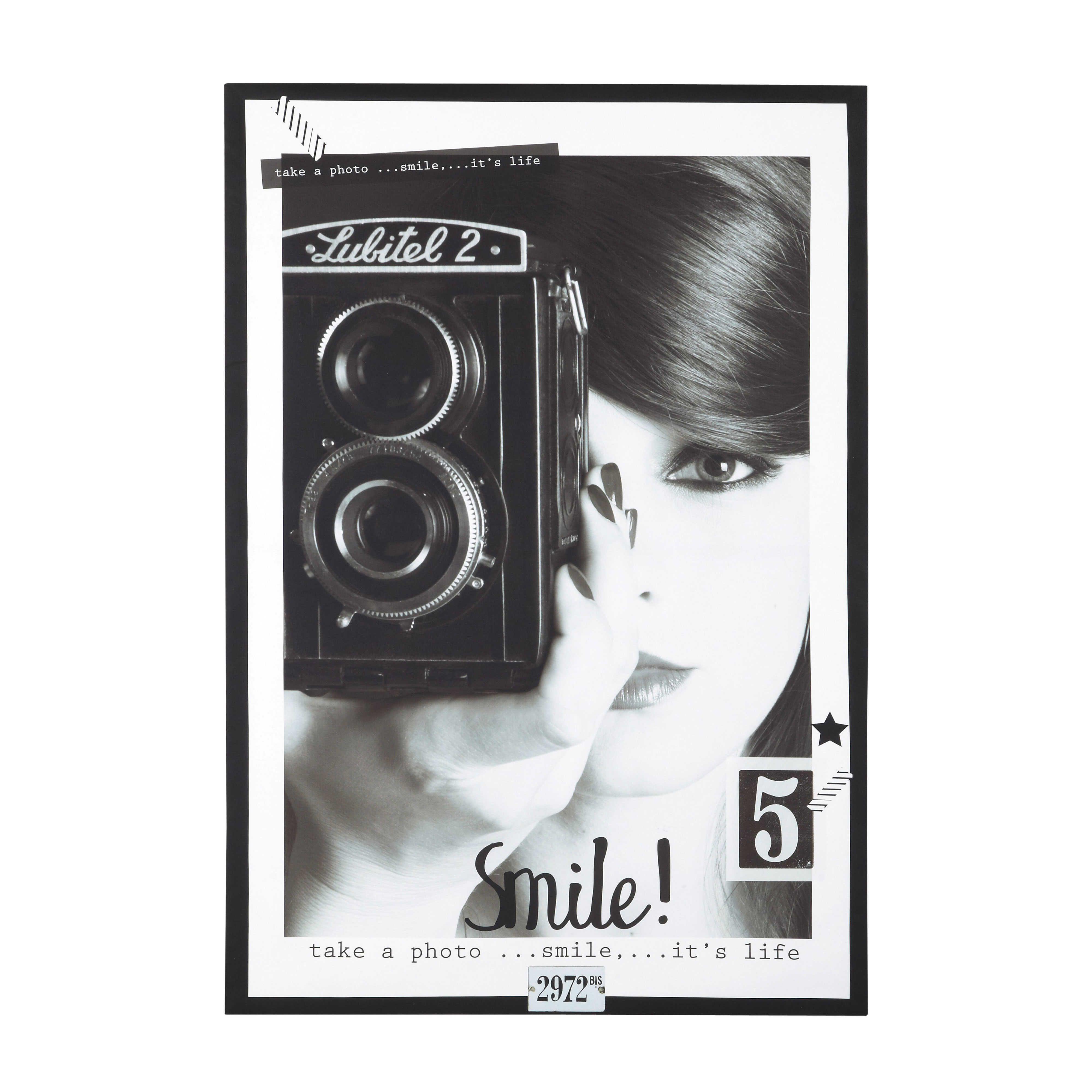 Wanddekoration vintage canvas how to take photos lens Tableau maisons du monde